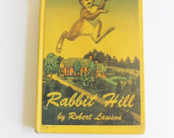 Rabbit Hill by Robert Lawson 1960 Hardcover Edition Vintage Library Book