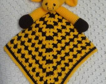 Security Blanket, Lovey Blanket, Giraffe, Baby Boy Gift, Baby Girl Gift, Baby Shower Gift