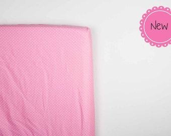 Fitted crib sheet, pink sheets, baby girl nursery bedding, pink crib bedding, baby shower girl gift