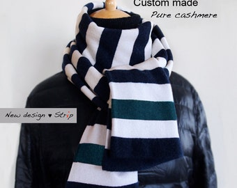 Cashmere scarf / Seamless Cashmere scarf / Men scarf / Women scarf /Stripe scarf / Scarf / Cashmere / Stripe / Winter accessory