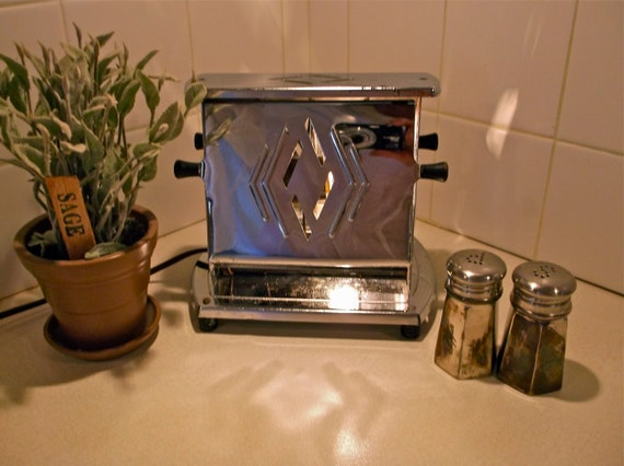 Kitchen Night Light Vintage Toaster Upcycled By