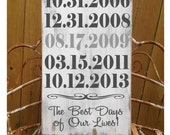 Personalized 5th Anniversary Gift, Important Date Custom Wood Sign, Special Dates, Spouse Gift, Parent Gift, Wedding Gift,Castle Inn Designs