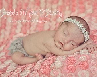 Baby Girl Crown, Silver Crown, Baby Headband, Princess Headband, Birthday Crown, Baby Crown Headband, Newborn Headband, Tiara Headband