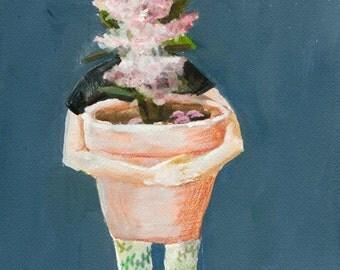 Abstract Flower Art Print, Figurative Wall Art, Spring Home Decor, thepaintedgrove