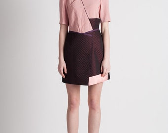 30% Season Off_Feldblume A-structural Mini Dress_Wine