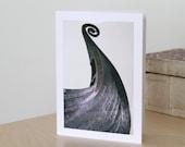 Viking Ship Blank Note Card, Scandinavian Photography Print, Nordic Art, Birthday Gift Card