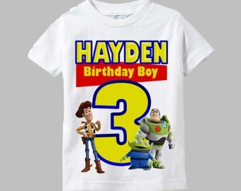 Toy Story Birthday Shirt - Toy Story Shirt with Woody and Buzz