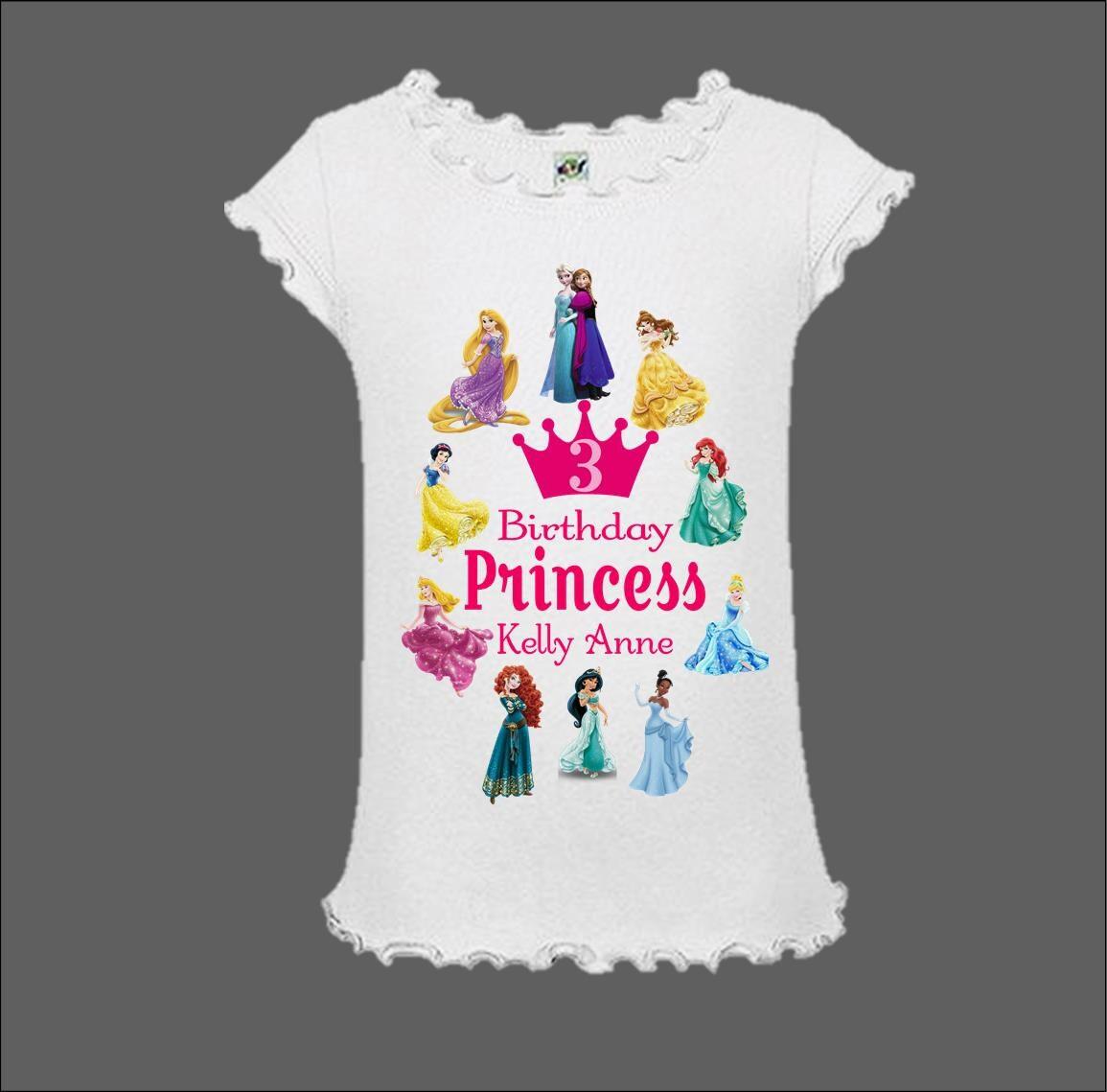 Disney Princess Birthday Shirt Disney Tank Top Disney