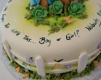 Beatrix Potter inspired Peter Rabbit Cake Topper