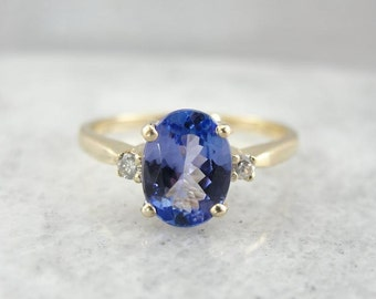 Simple Tanzanite Ring For Day Or Evening 72R1EP