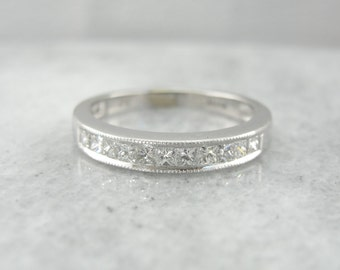 Square Cut Diamond Channel Set Wedding Band LMLHEJ-P