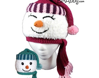 Crochet Snowman Hat Pattern (PDF FILE)