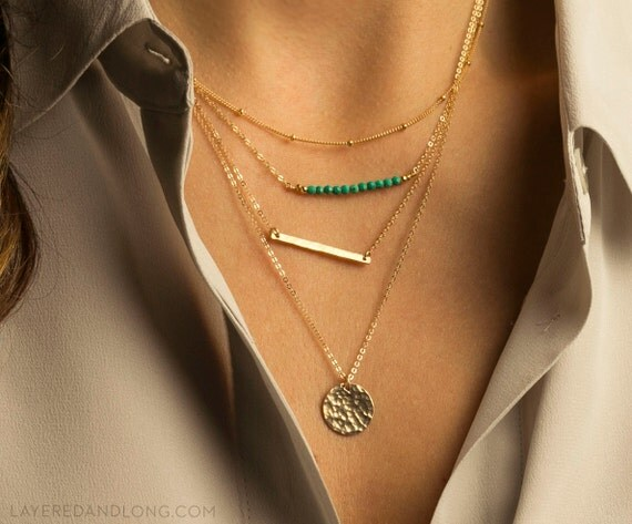 layered and long necklaces set silver gold or by. Black Bedroom Furniture Sets. Home Design Ideas