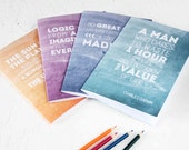 SCIENCE QUOTE NOTEBOOKS Set Famous Scientists Inspirational Words Plain Pages Scientific Stationery Geeks Back to School Teacher Gift Mum Uk