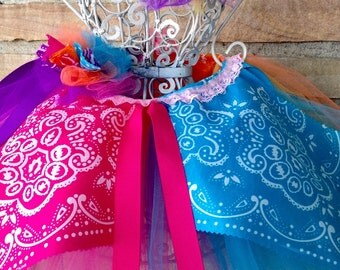 Color Block Tutu-Ready2Ship  Great for pageant wear, ooc, Cino de Mayo, birthday, or just for fun!