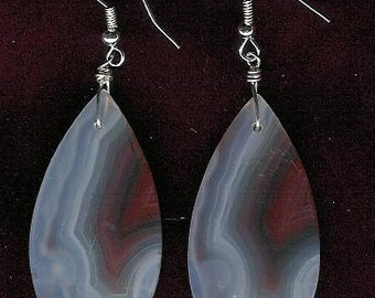 Earrings - Chalcedony, Sterling Silver