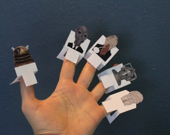 Dr Who Finger Puppets (printable)