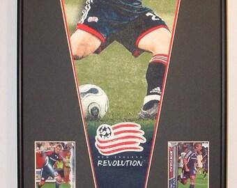 Taylor Twellman New England Revolution Soccer Pennant & Cards...Custom Framed!