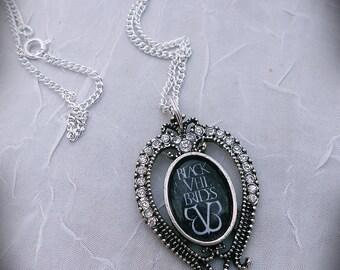 BLACK VEIL BRIDES Rhinestone Necklace