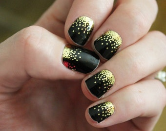 Black Sparkle Nail Wraps