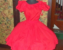 Vtg. Square Dance Rockabilly Dress - Jeri Bee - Two Piece - Costume