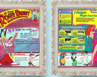 4 page who framed roger rabbit 1991 nintendo game boy vintage video game ad feature - Who Framed Roger Rabbit Nes