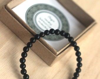 Black Onyx Bracelet for Men, Turtle Bracelet, Healing Bracelet, Protection Bracelet, Calming Bracelet, Inspirational Gift, Yoga Bracelet