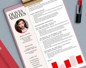 SALE - Modern & Feminine Résumé Template - Custom Résumé/CV - Instant Download - MS Word Format - Fully Editable