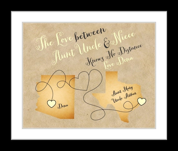Christmas Gifts For Nephew And Niece: Custom Uncle Gift Or Aunt Art Print: Niece By Printsinspired