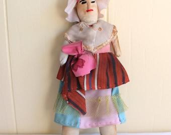 Vintage Primitive Handmade Doll