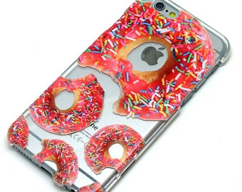 Donuts with sprinkles Doughnut Phone Case Clear iPhone 6, SE, 6 Plus, 6S, 5, 5C, 5S, Galaxy S6, S7, Note 4, Note 5