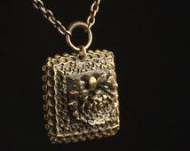 Pentti Sarpaneva Bronze Scandinavian Mid-century Modern Necklace - Antique Brutalist Necklace