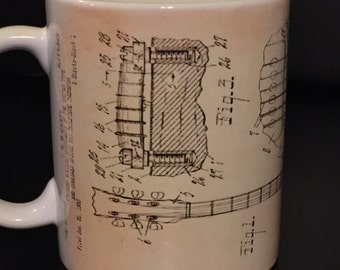Gibson Les Paul guitar Coffee Mug - Guitar mug - les paul mug