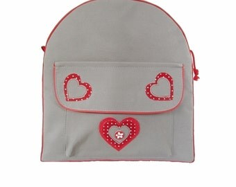 Backpack red heart