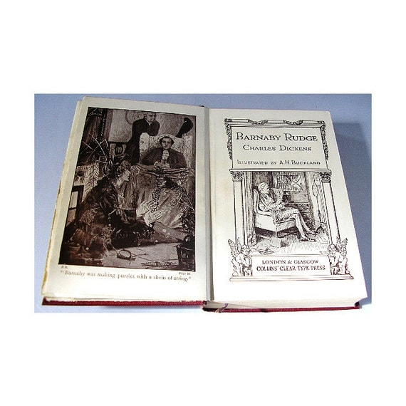 History Criticism: Vintage Book Barnaby Rudge Charles Dickens Illustrated C1930