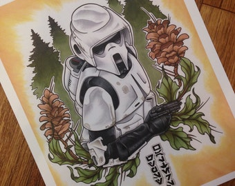 Star Wars Scout Trooper PRINT