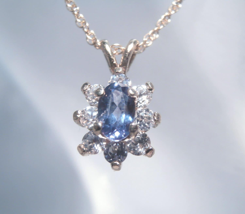 Natural Alexandrite Necklace: ALEXANDRITE Genuine & Natural Alexandrite 14K Gold Necklace