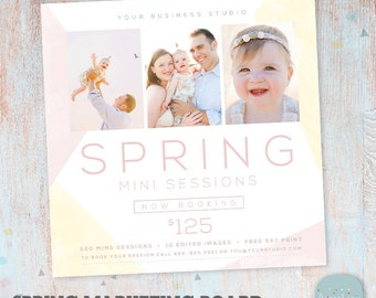 Spring Marketing Board Mini Session - Photoshop template - IE016 - INSTANT DOWNLOAD