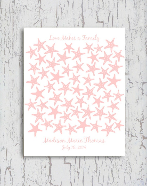 baby shower guest book guestbook alternative starfish beach