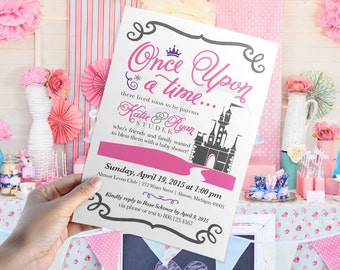 Once Upon A Time Baby Shower Invitation // DIY Printable 5x7   Print  Yourself DIGITAL