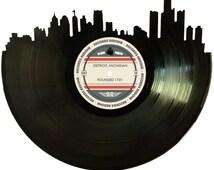 Detroit Skyline Records Redone Label Vinyl Record Art