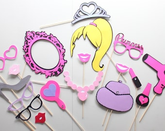18pc * Doll Inspired Photobooth Props/Princess Party Photo Booth Props
