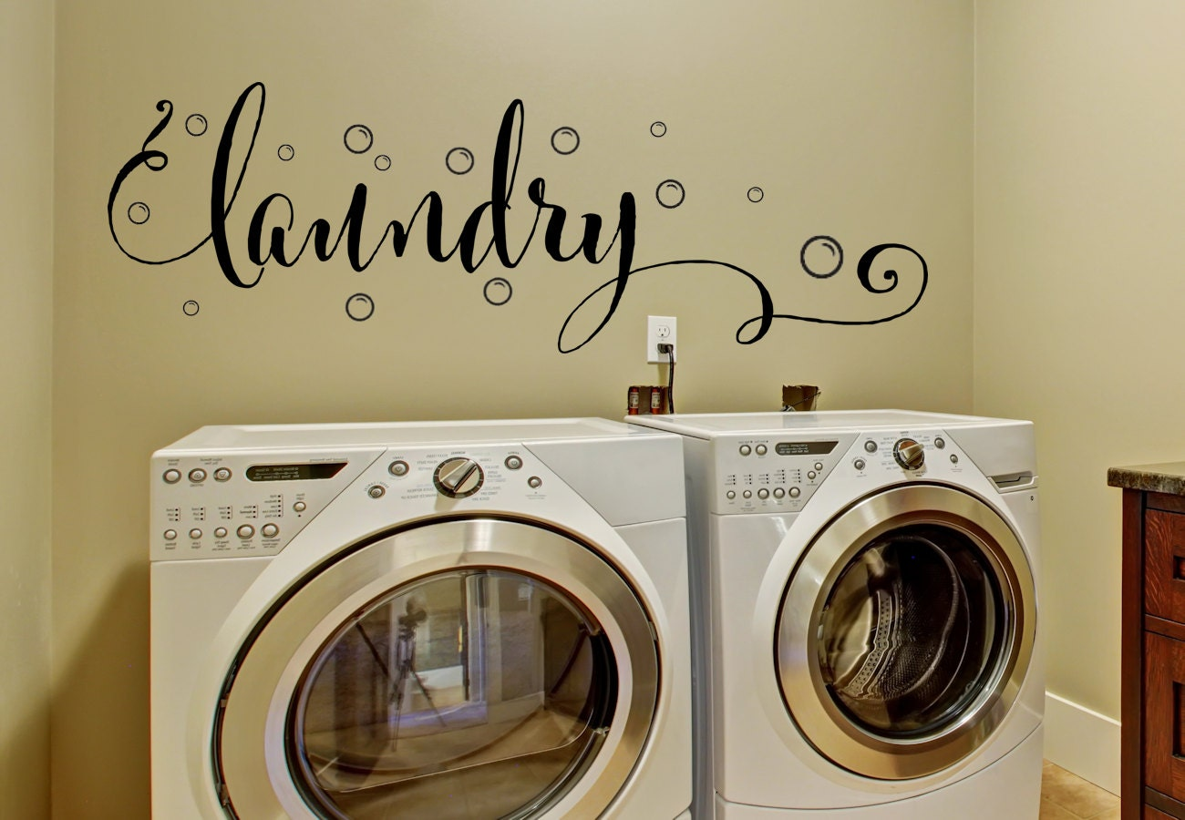 Laundry Room Decor - Laundry Wall Decal - Wall Decal ... on Laundry Decoration  id=62544