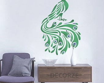 Peacock Painting, Peacock Sticker, Peacock Wall Art, Peacock Designs,  Peacock Stencil Part 39