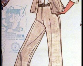 Butterick 5931  Misses' Shirt, Vest, Skirt & Pants  Size 14 UNCUT