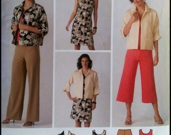 Simplicity 3842  Misses'/ Women's Dress Or Top, Pants in two lengths And Jacket  Size (10-18)  UNCUT