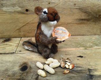 Squirrel, american squirrel, felted squirrel,