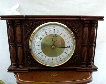 Vintage Scottish Westclock Mechanical Clock in Ceramic Case