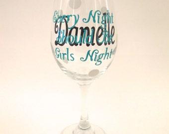 Girls Night Personalized Wine Glasses