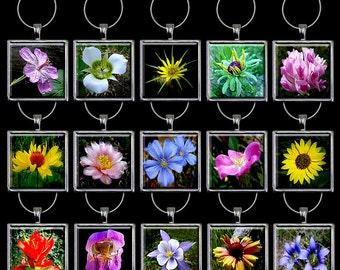 Wildflower Wine Charm - Wildflower Wine Glass Charm - Flower Wine Charm - Flower Wine Glass Charm - Wine Glass Hoop Handmade (WFW1)
